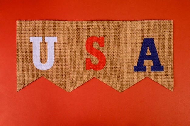 Beautifully written banners usa letter hanging swallowtail flags united states bunting