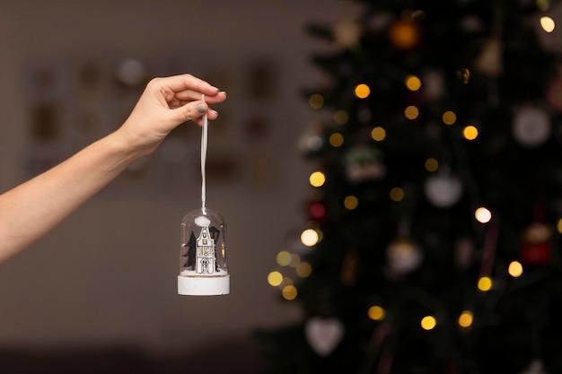 自宅での美しいクリスマスのコンセプト