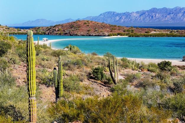 Красивые пейзажи нижней калифорнии, мексика. фон путешествия, концепция