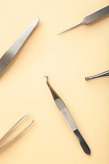뷰티 및 패션 컨셉-속눈썹 연장 시술 도구