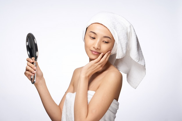 Beauty asian woman skin care, beauty