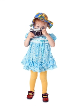 흰색 위에 아름다움 아기 사진 작가
