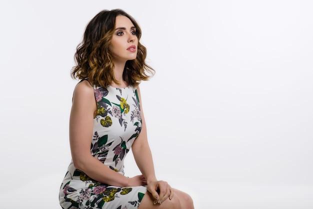 Beauty brunette woman portrait