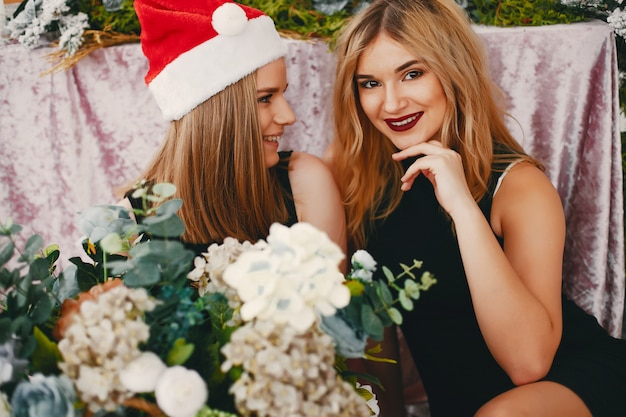 Beauty christmas girls