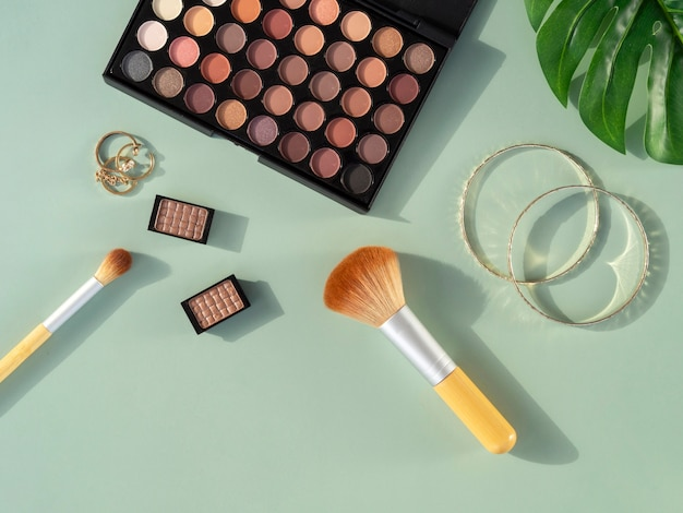 Beauty cosmetics products on desk