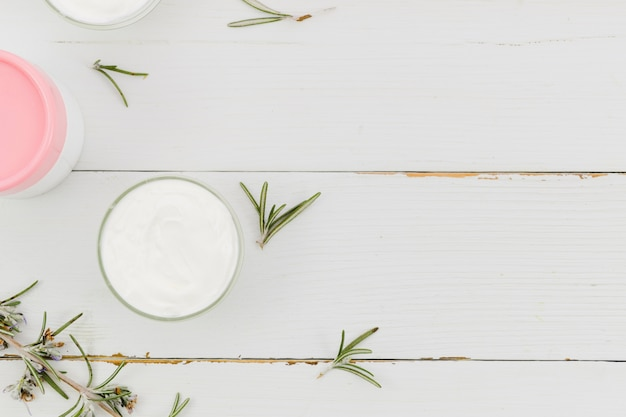 Beauty cream with natural elements