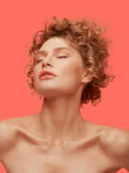 Beauty fashion portrait girl pleasure