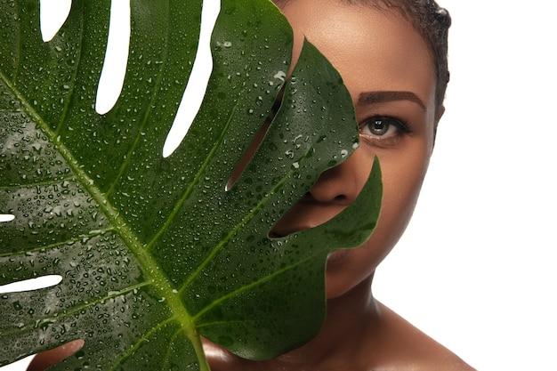 Концепция косметики по уходу за кожей красоты