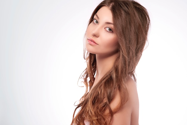 Beauty of half naked woman