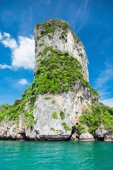 Beauty limestone rock in the sea