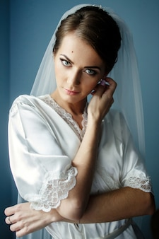 Beauty mysterious symbol bride alone