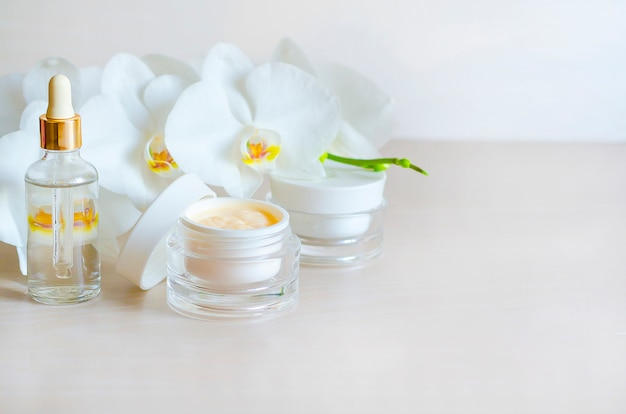 Beauty . natural cosmetic product for skin care. spa treatments for face and body.