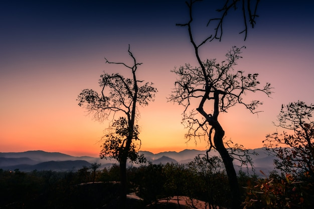 The beauty of the pai canyon at sunset. pai, mae hong son, thailand's attractions.