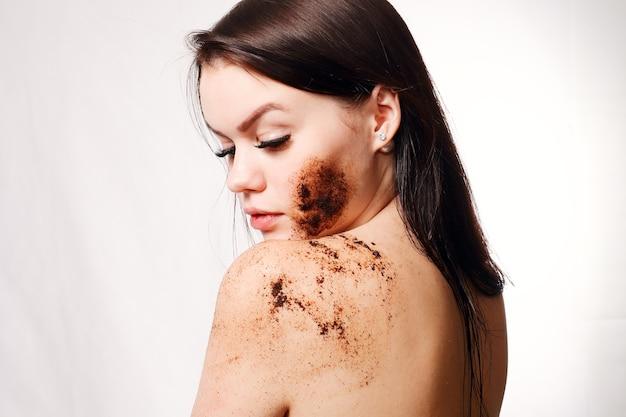 美しさ、人、健康な肌のコンセプト