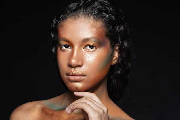 미국 젊은 여자의 뷰티 초상화