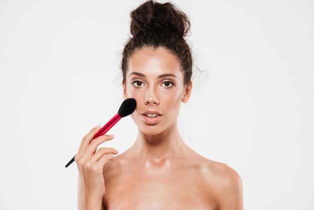 Beauty portrait of a young brunette woman