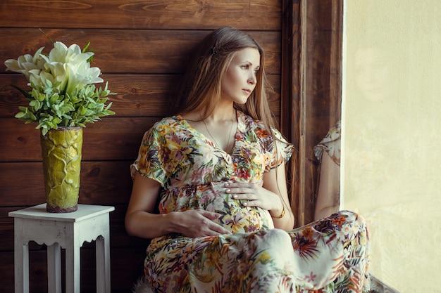 Beauty pregnant woman