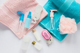 タオル上の美容製品の組成