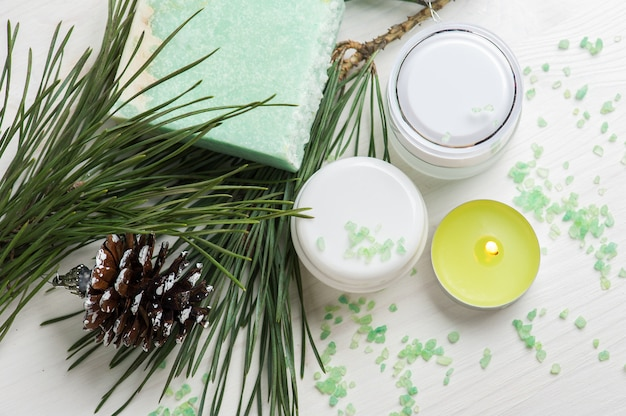 Beauty products and handmade soap