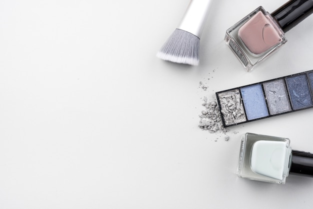 Beauty products with copy space