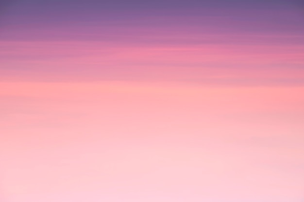 Beauty sky of pink clouds in sky at sunset springtime background