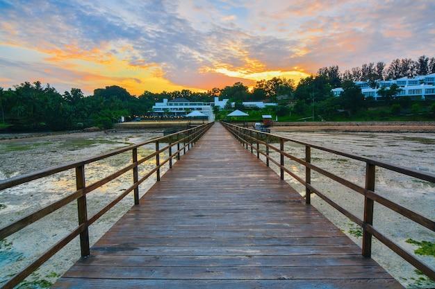 モティゴリゾートバタム島の美しさの夕日