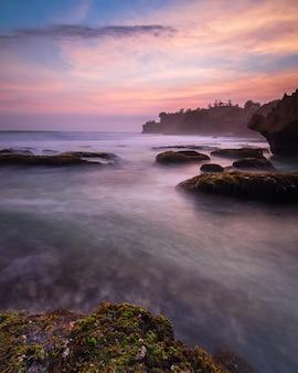 The beauty of sunset at ngrawe beach, gunungkidul, yogyakarta. new beach explored near gunungkidul. hdr processed.