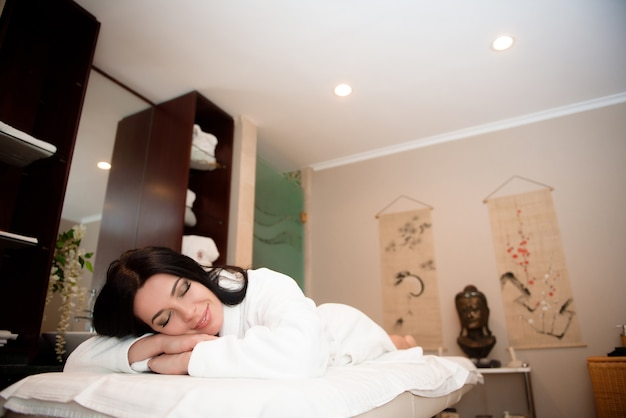 Beauty treatment concept. spa relaxation in a salon.