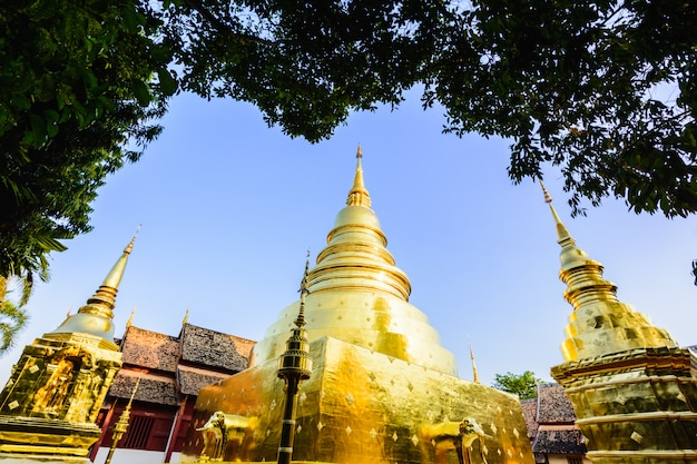 The beauty of wat phra singh. wat phra singh the temple is one of the important. chiang ma