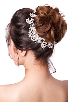 Beauty wedding hairstyle.
