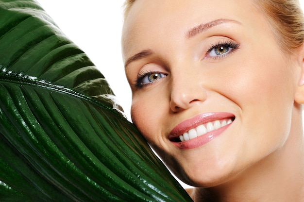 Beauty wellbeing smiling wonan face