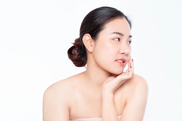 Beauty woman asia and have white skin charm