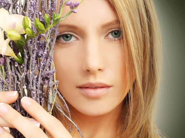 Beauty - woman face, spring season