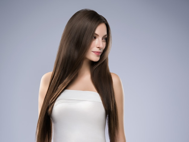 Beauty woman healthy skin concept natural makeup beautiful model girl face. studio shot.