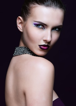 Beauty woman with perfect makeup. beautiful professional holiday make-up.