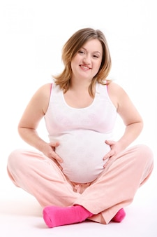 Beautyful happy pregnant young woman