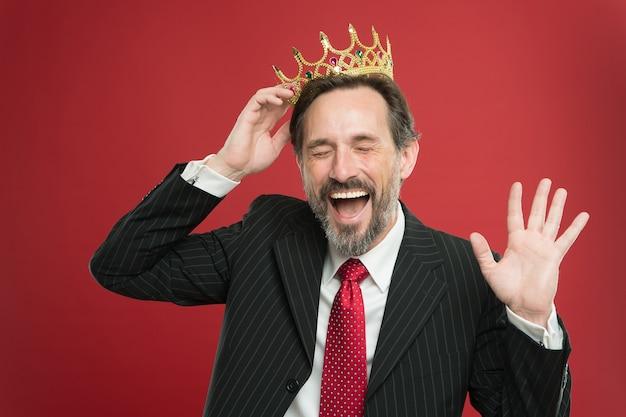 Церемония «стань королем» я просто выше награда и достижение чувство превосходства
