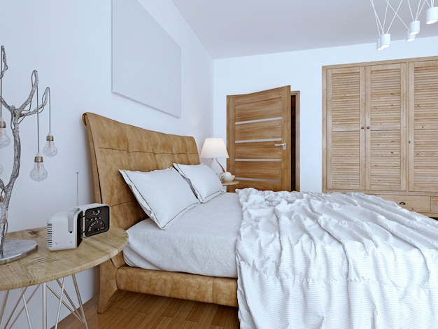 Спальня современного дизайна.