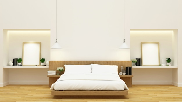 Bedroom decoration - 3d rendering