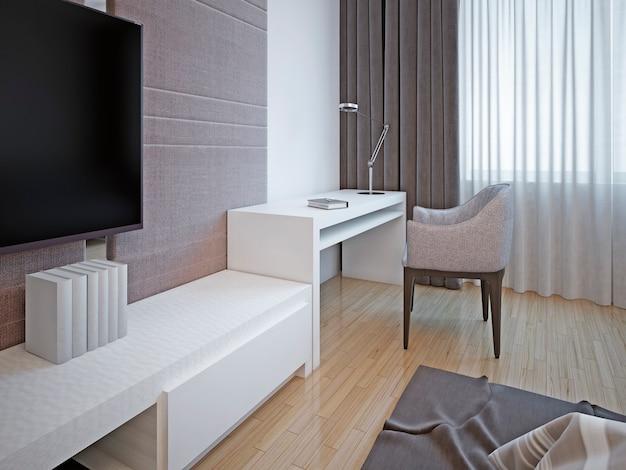 寝室の家具のアールデコ様式。