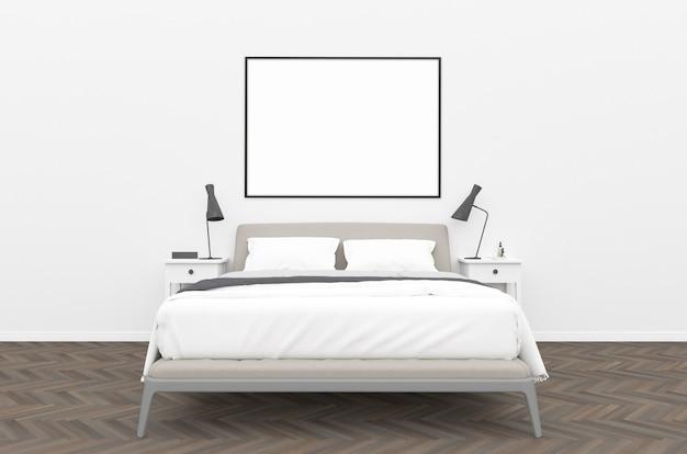 침실-가로 프레임 모형