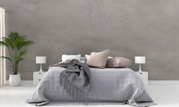 Интерьер спальни, 3d-рендеринг
