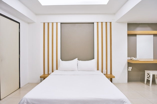 Bedroom interior decoration mock up for hotel apartment