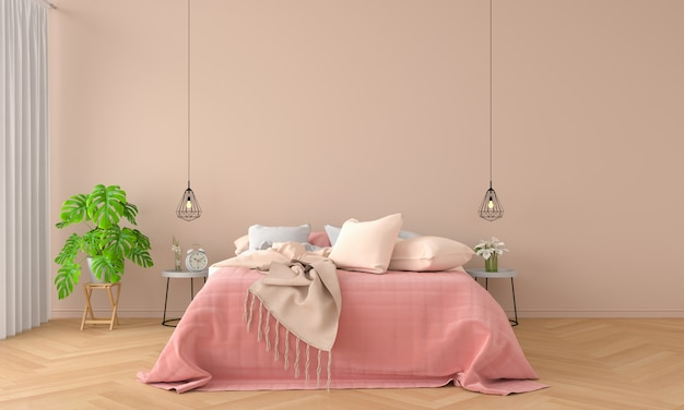 Интерьер спальни для макета