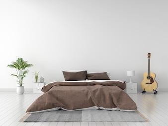 Bedroom interior for mockup