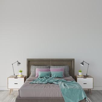 침대가있는 침실 인테리어