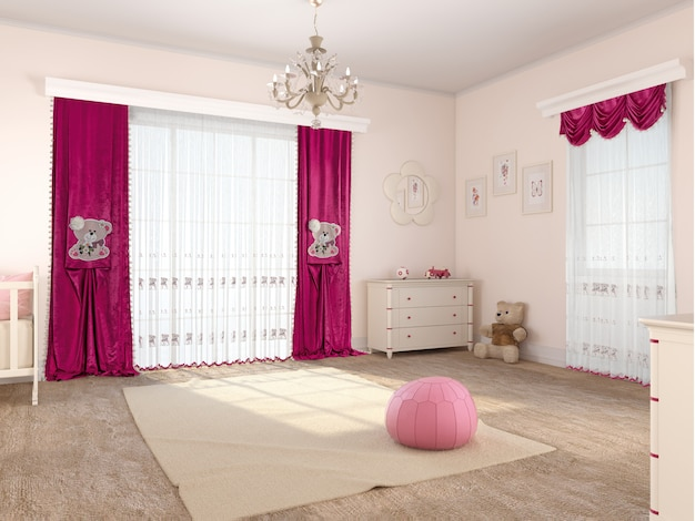 Bedroom interior with decoration