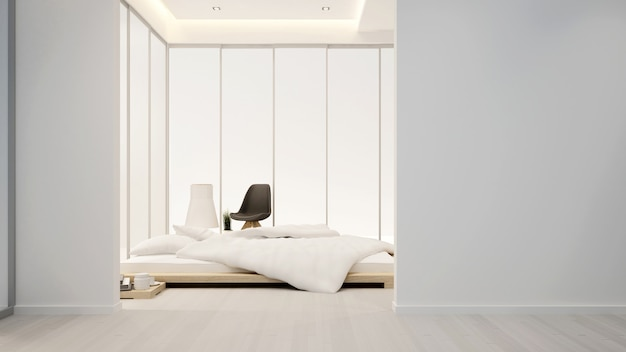 Bedroom and living area in hotel or home - interior design - 3d