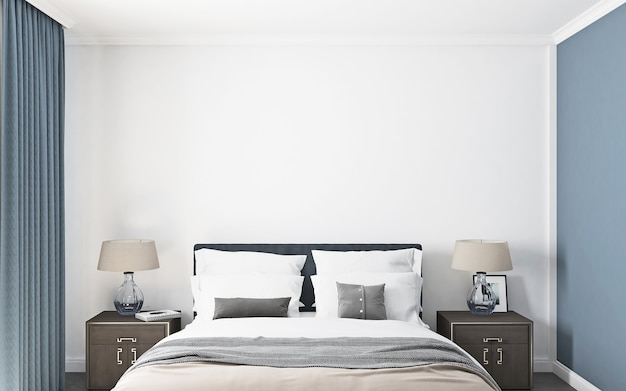 Макет спальни в американском стиле