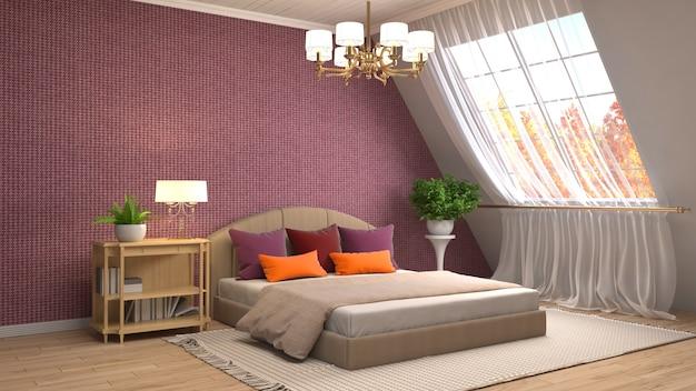 Спальня с современным декором